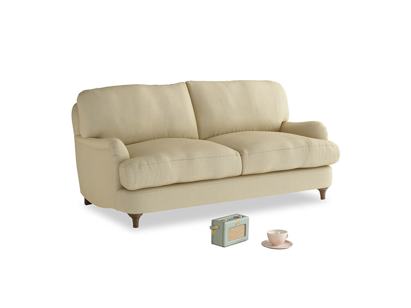 Small Jonesy Sofa in Parchment Clever Linen