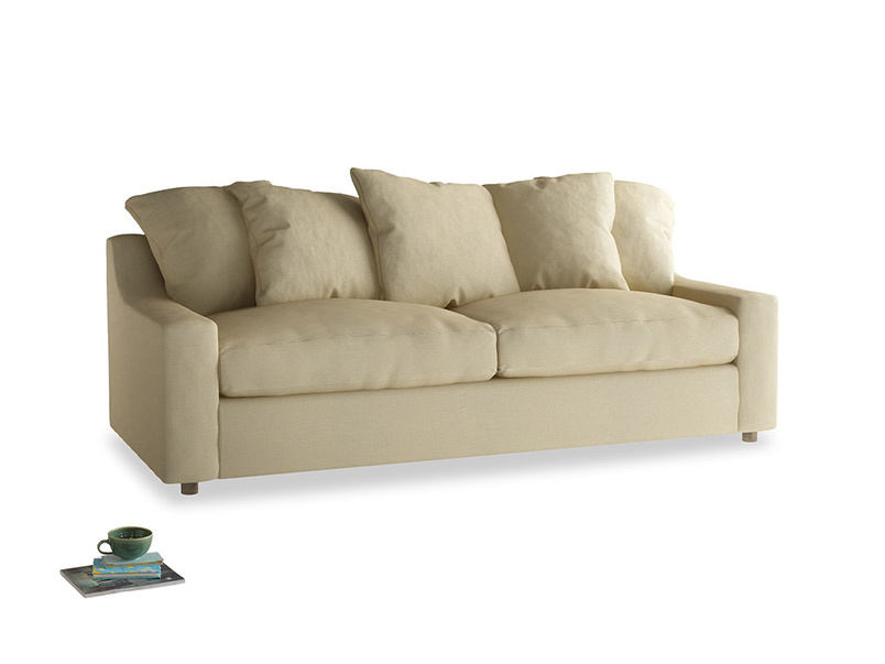 Large Cloud Sofa in Parchment Clever Linen