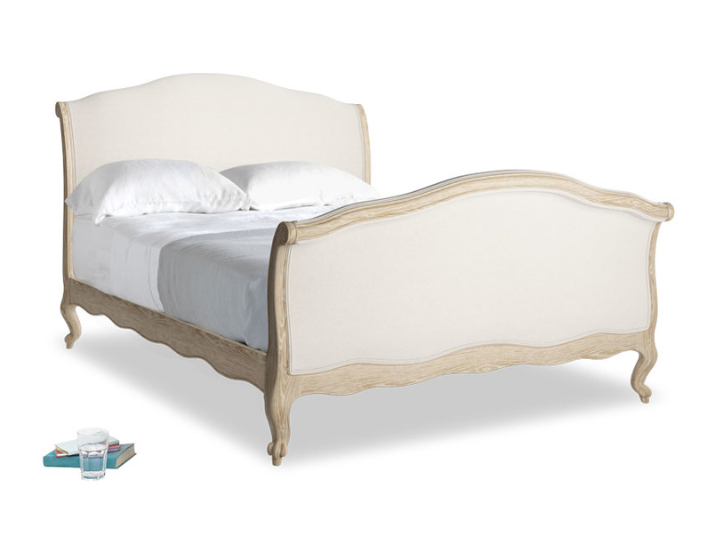 Double Antoinette Bed in Natural cotton linen mix