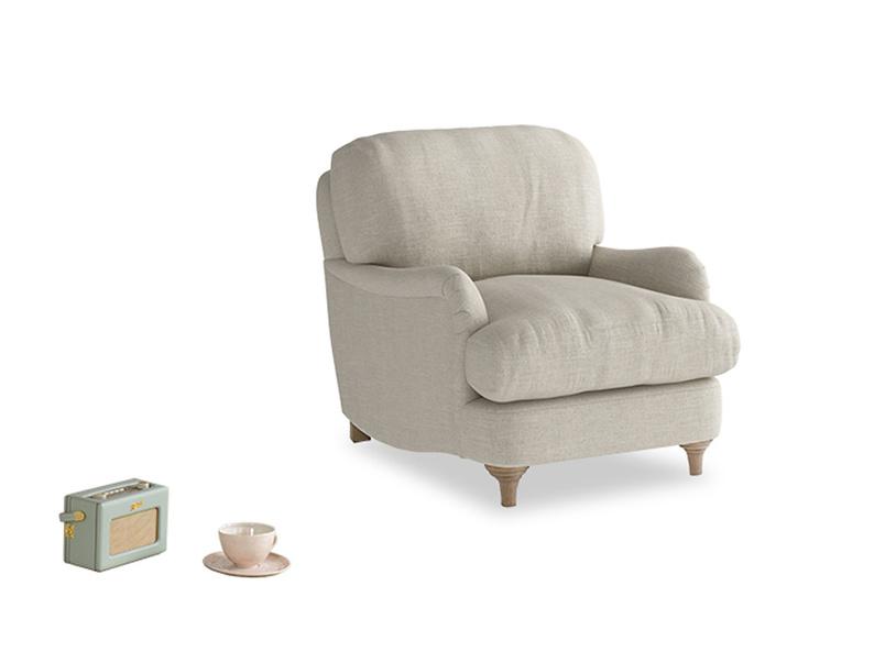 Jonesy Armchair in Thatch house fabric