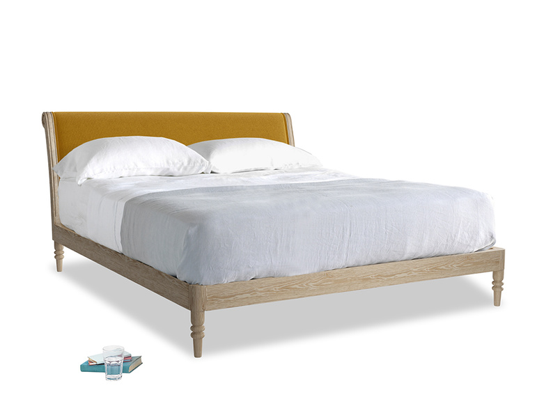 Superking Darcy Bed in Saffron Yellow Clever Cord