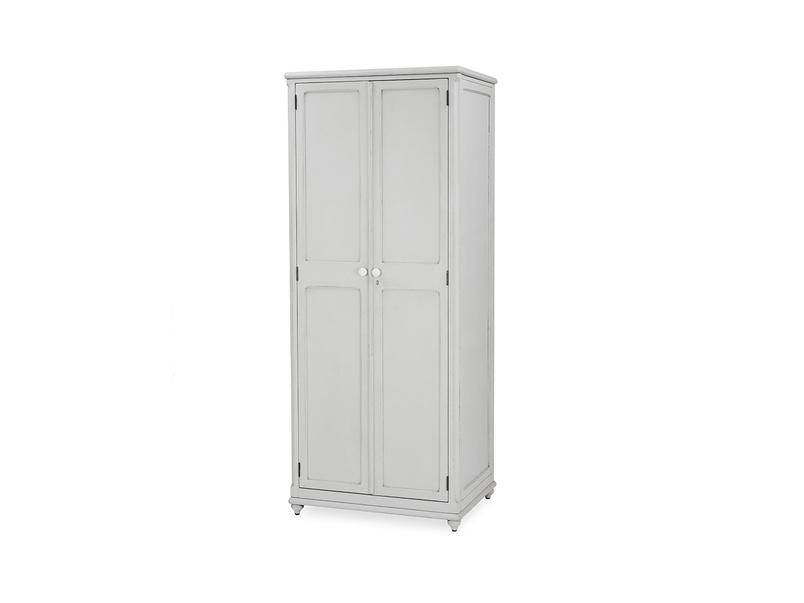 Grand popinjay wood armoire wardrobe side detail