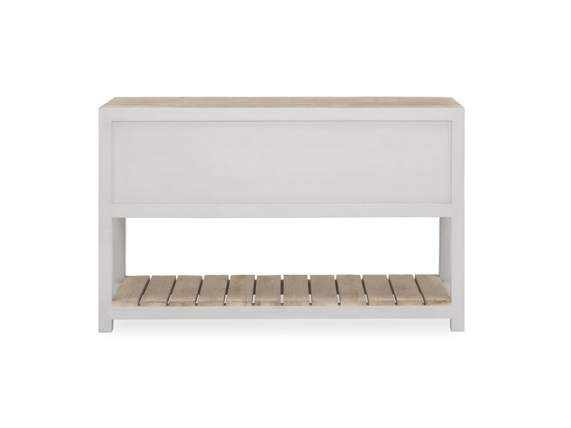 Provender sideboard in grey back view