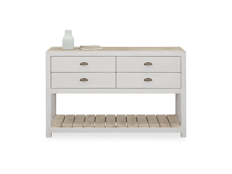 Provender sideboard in grey front view with prop