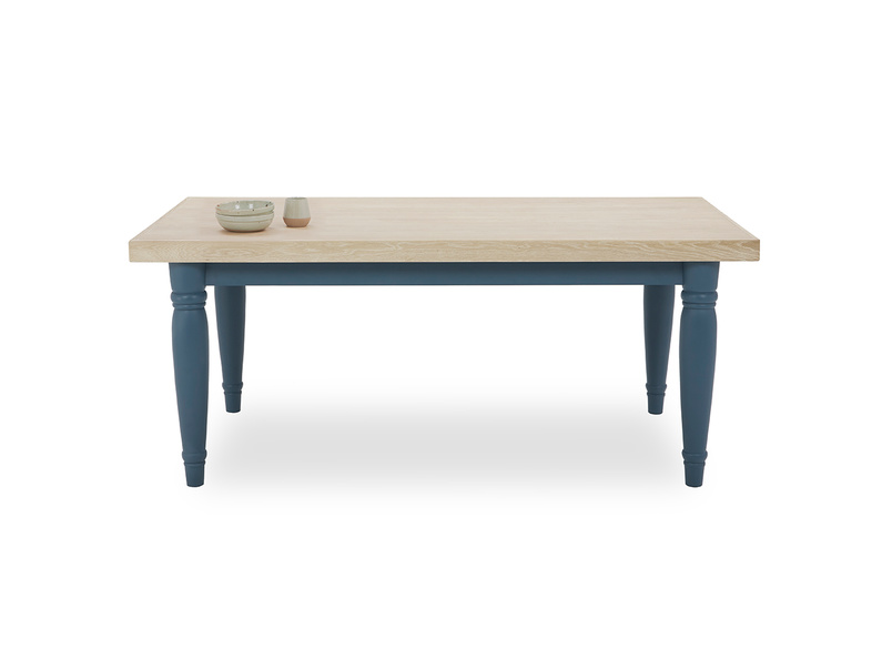 Scullery kitchen table blue front view with prop