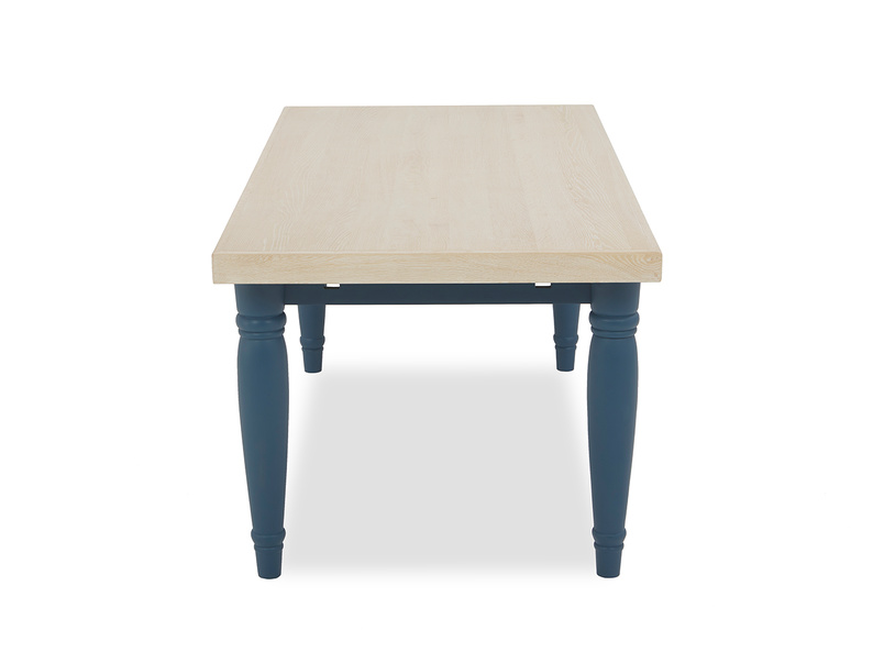 Scullery kitchen table in blue side detail