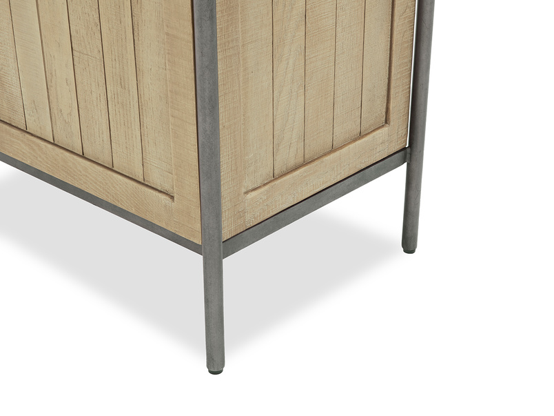 Servery industrial oak sideboard side detail