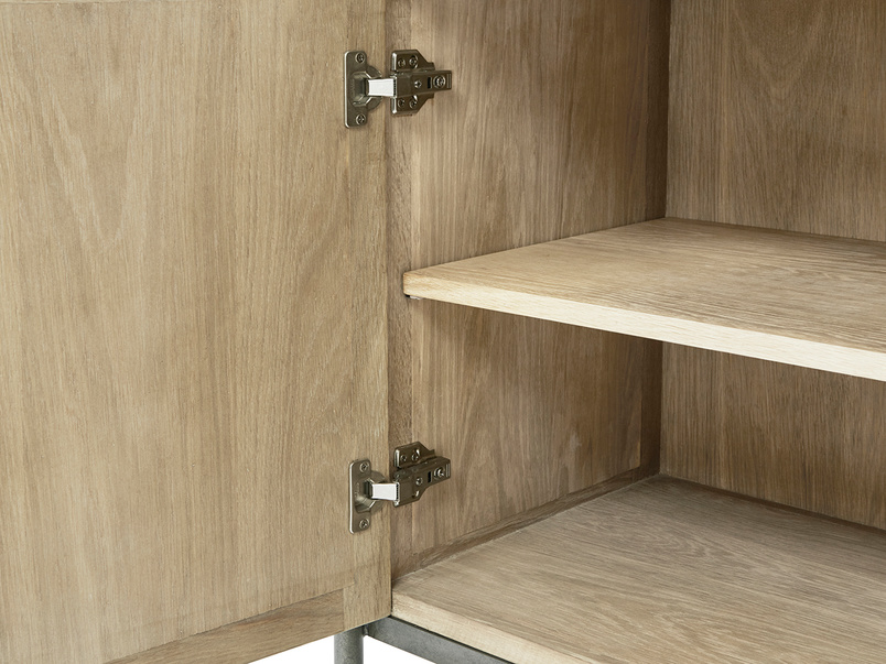 Servery oak sideboard inside detail