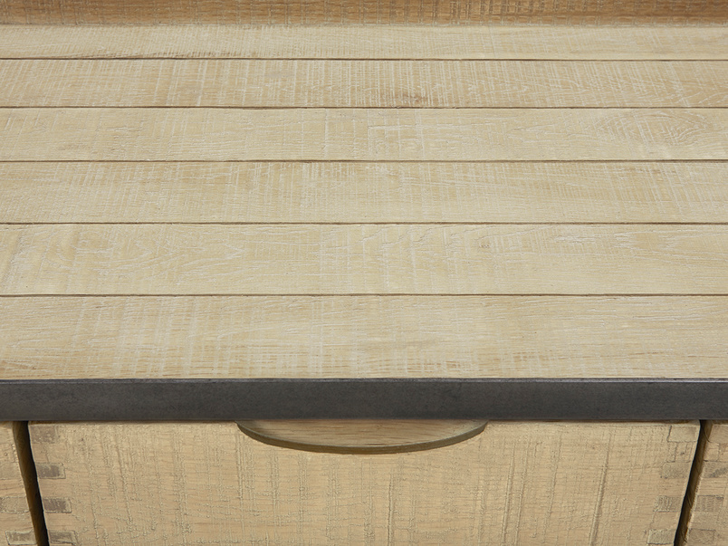 Servery oak sideboard top detail