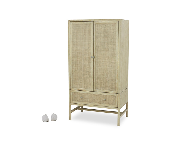 Willow wardrobe with drawers front view with prop