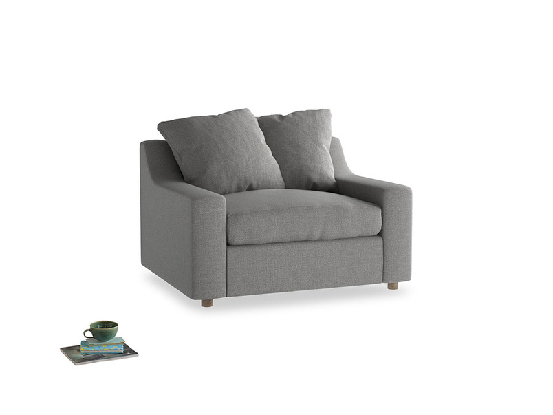 Cloud love seat sofa bed in Cloudburst Bamboo Softie
