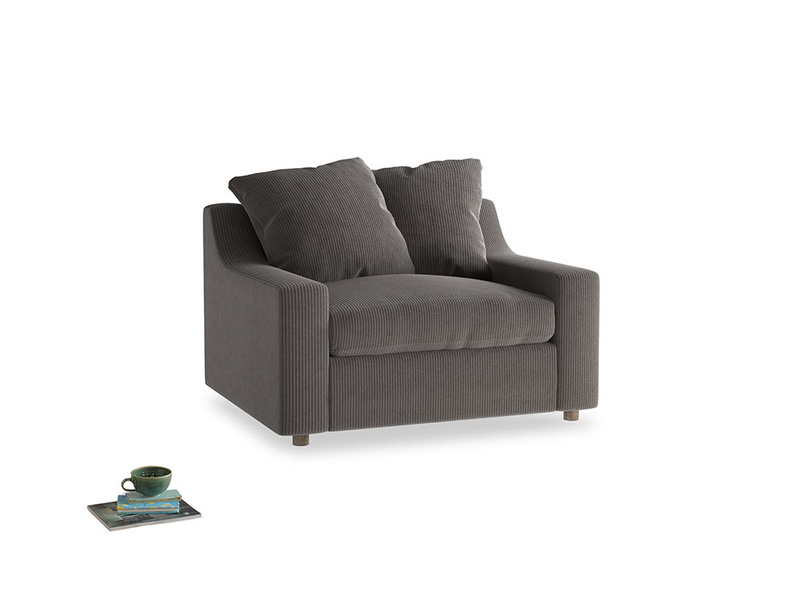 Cloud love seat sofa bed in Everyday Grey Clever Cord