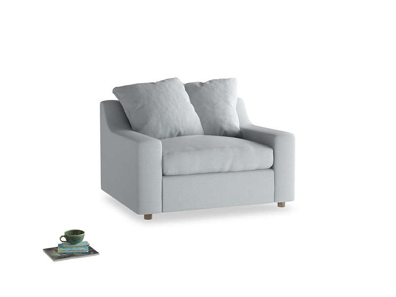 Cloud love seat sofa bed in Gull Grey Bamboo Softie
