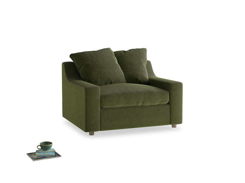 Cloud love seat sofa bed in Leafy Green Clever Cord
