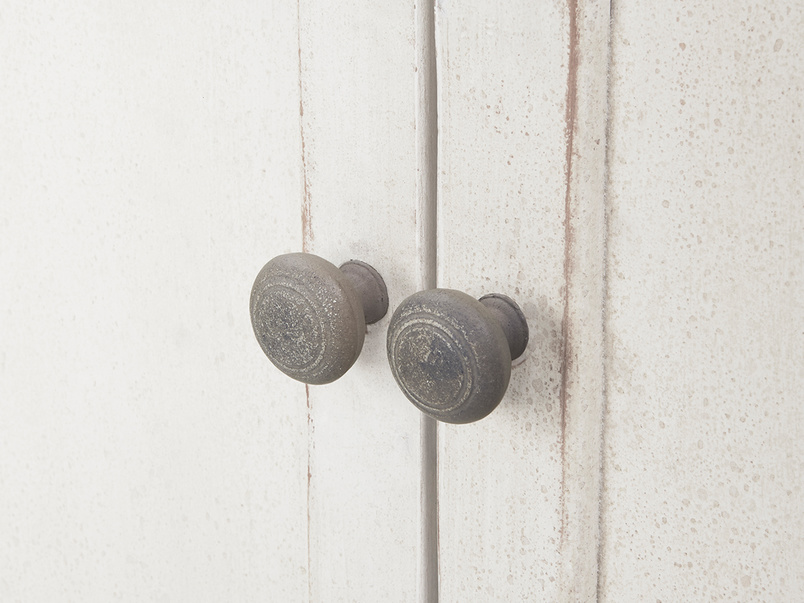 Grand pimpernel wood armoire wardrobe handle detail