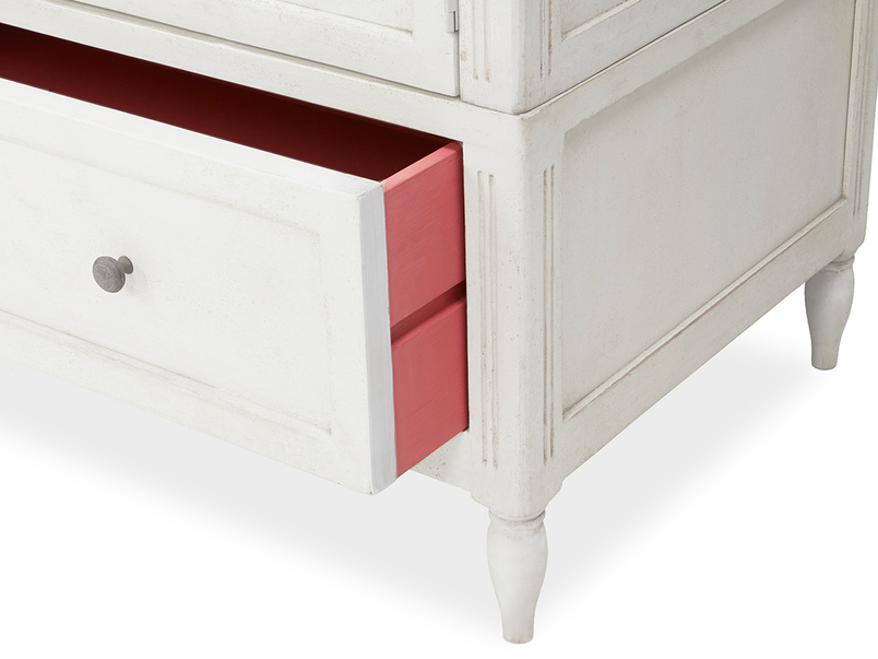 Grand pimpernel pink and white wardrobe drawer detail