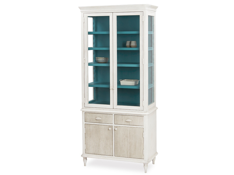 Molly display dresser glass cabinet with drawers with prop