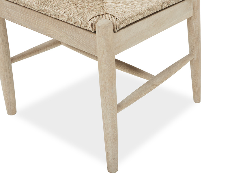 Hobnob curved back dining chair in natural seat side