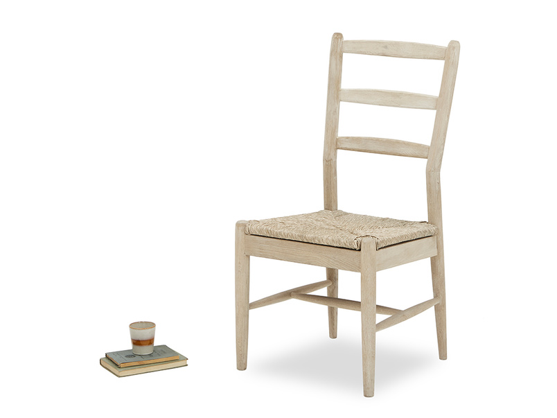 Hobnob chair in natural side detail with prop