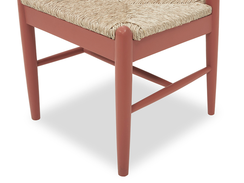 Hobnob woven seat dining chair seat angled