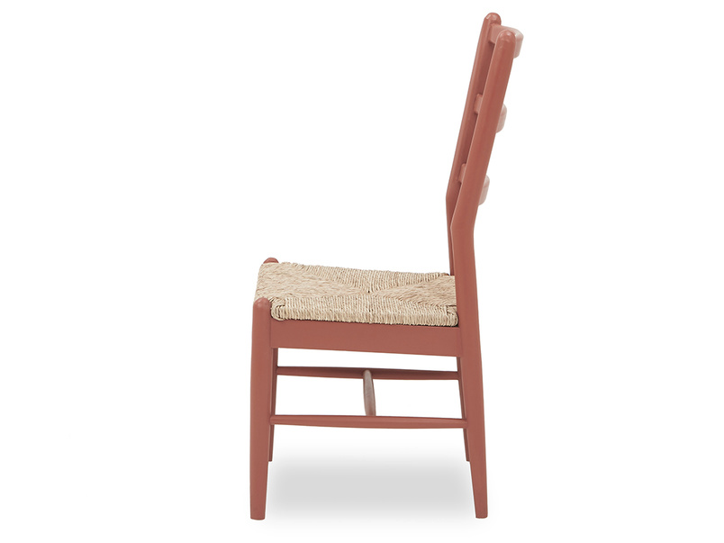 Hobnob woven seat rustic kitchen chair side