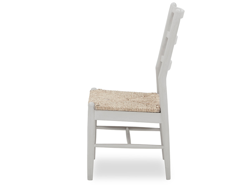 Hobnob rustic painted grey dining chair side