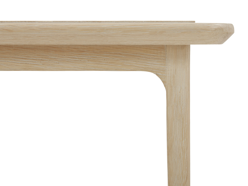 Blaise oak bedside table top detail