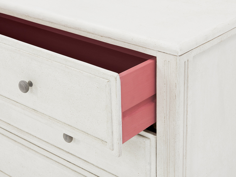 Pimpernel white chest of drawers drawer detail
