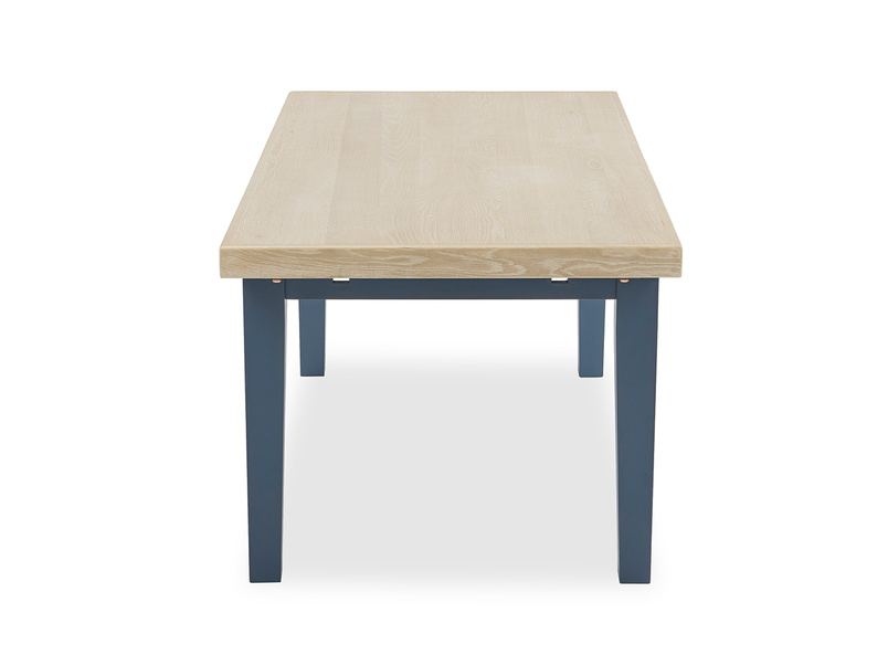 Pantry in heritage blue farmhouse kitchen table side detail