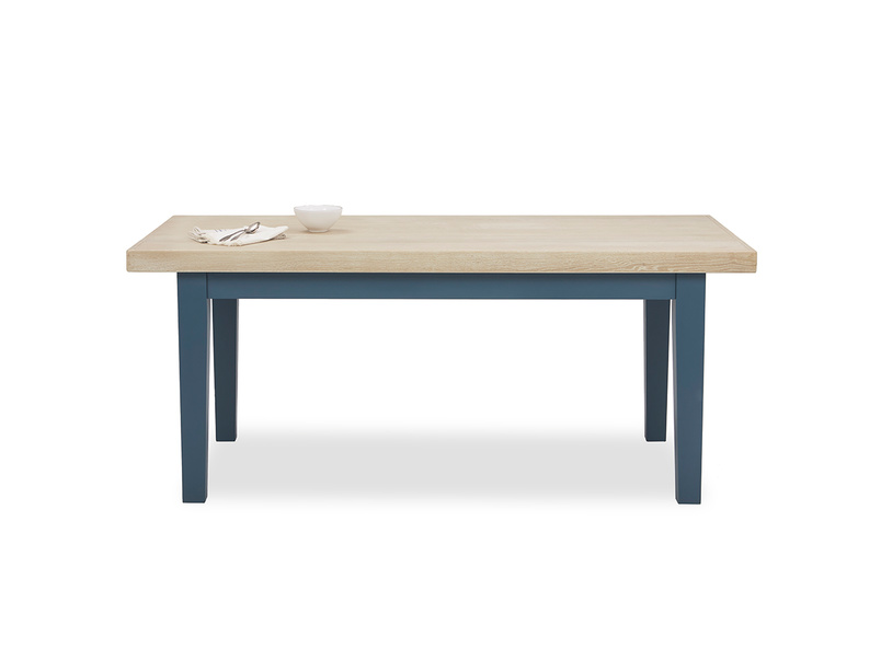 Pantry in heritage blue kitchen table front view with prop