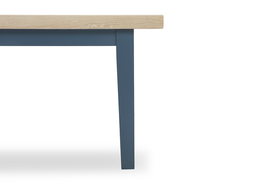 Pantry in heritage blue kitchen table leg detail