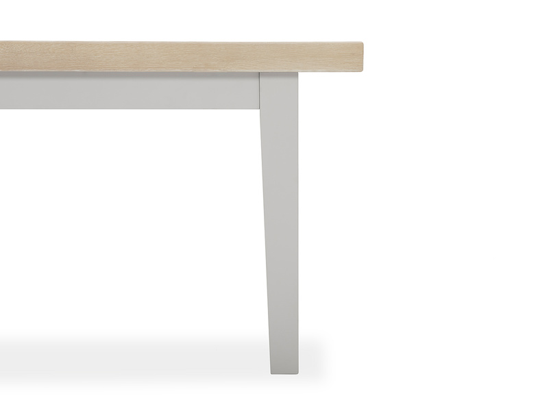 Pantry in pale grey kitchen table leg detail