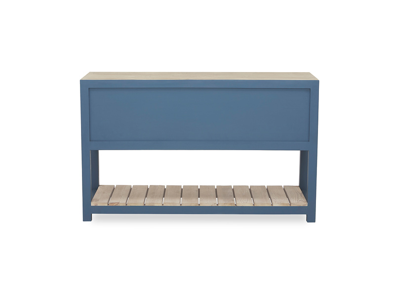 Provender sideboard in blue back detail