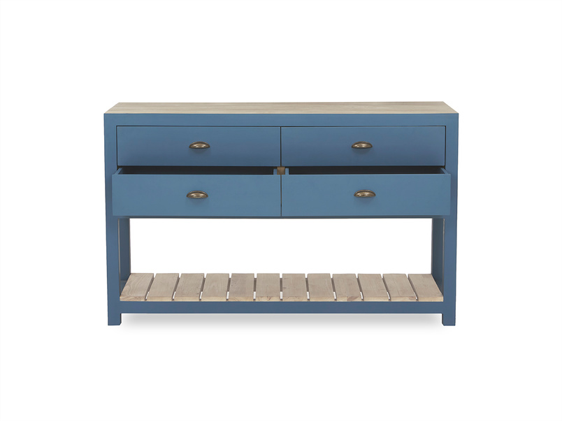 Provender sideboard in blue drawer detail