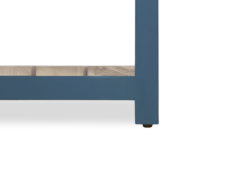 Provender sideboard in blue leg detail