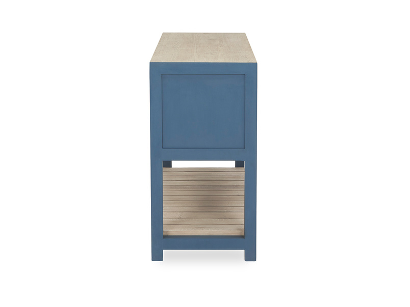 Provender sideboard in blue side detail