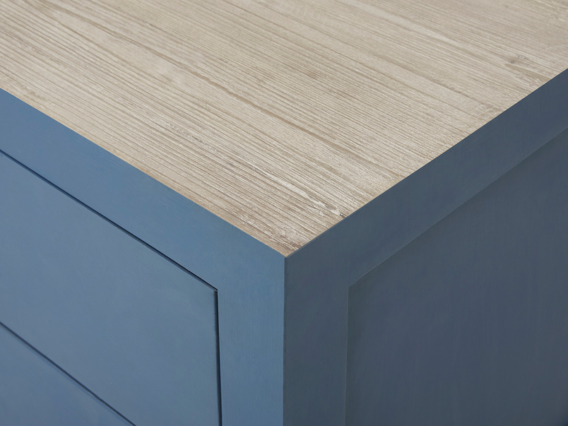 Provender sideboard in blue top corner detail