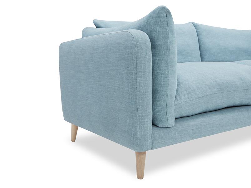 Slo mo comfy sofa arm detail