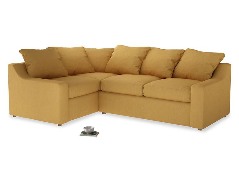 Large Left Hand Cloud Corner Sofa in Dorset Yellow Clever Linen