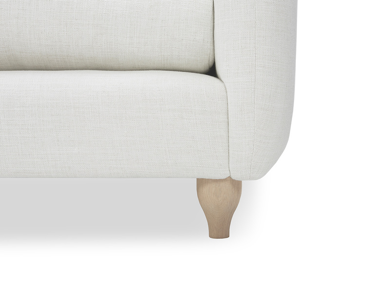 Podge contemporary sofa leg detail