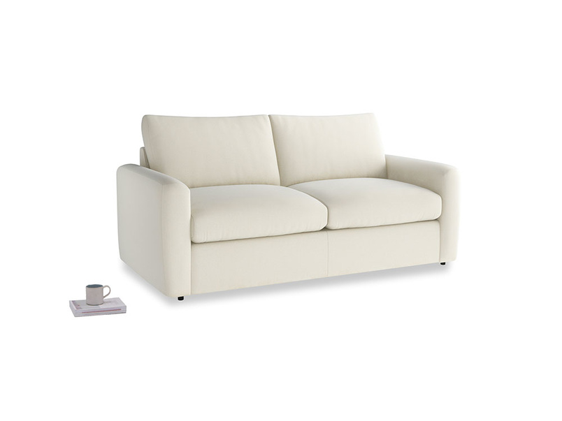 Chatnap Sofa Bed in Alabaster Bamboo Softie with both arms