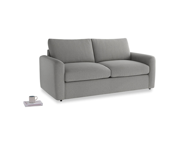 Chatnap Sofa Bed in Cloudburst Bamboo Softie with both arms