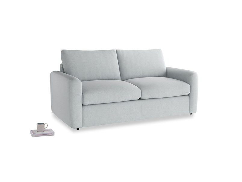 Chatnap Sofa Bed in Gull Grey Bamboo Softie with both arms