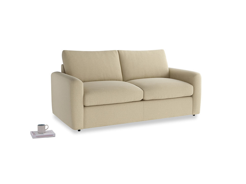 Chatnap Sofa Bed in Hopsack Bamboo Softie with both arms