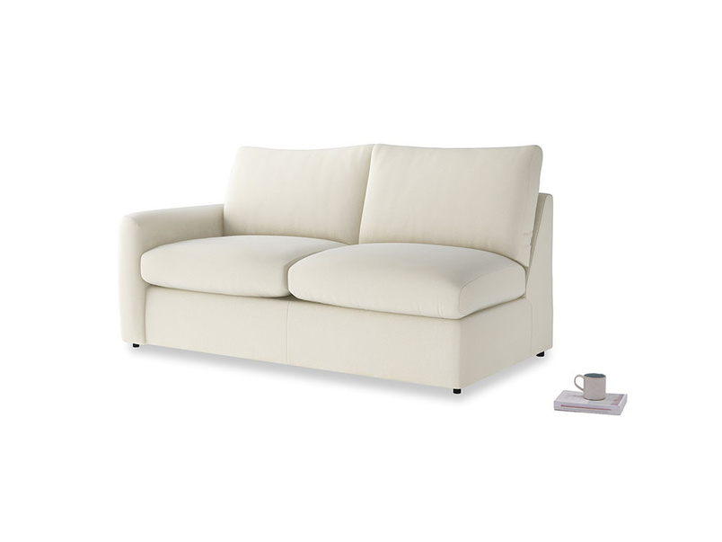 Chatnap Sofa Bed in Alabaster Bamboo Softie with a left arm