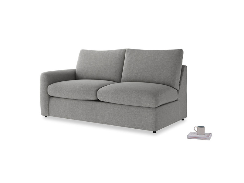 Chatnap Sofa Bed in Cloudburst Bamboo Softie with a left arm