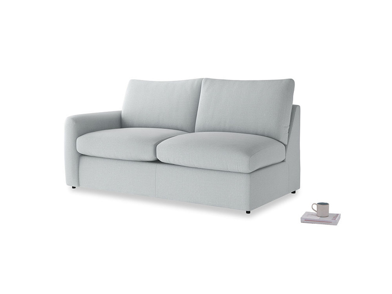 Chatnap Sofa Bed in Gull Grey Bamboo Softie with a left arm