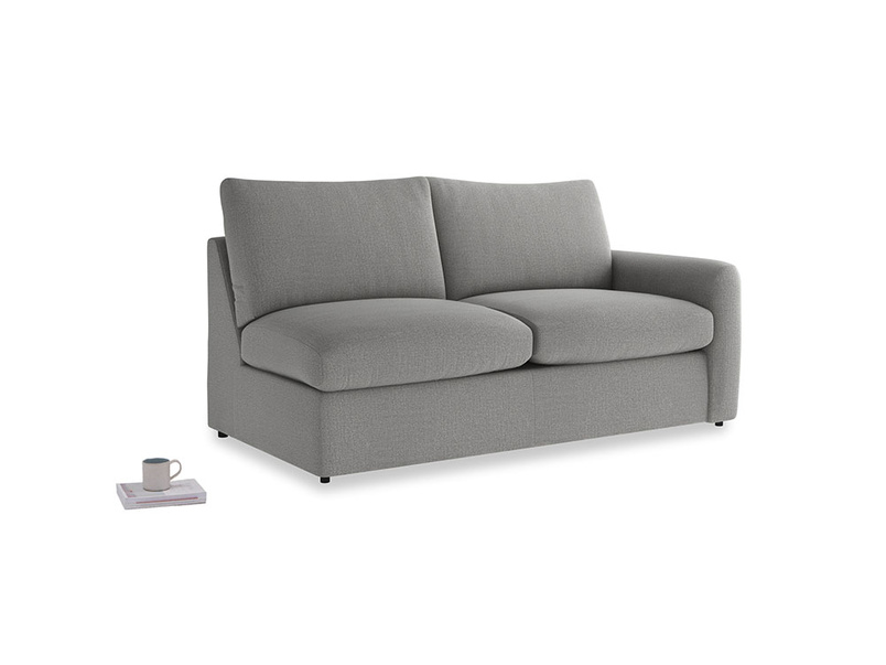 Chatnap Sofa Bed in Cloudburst Bamboo Softie with a right arm