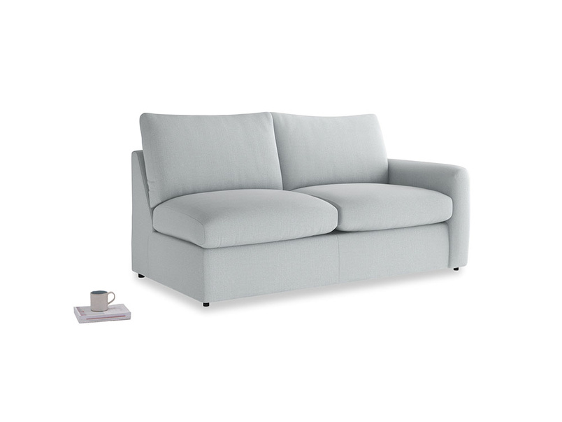 Chatnap Sofa Bed in Gull Grey Bamboo Softie with a right arm