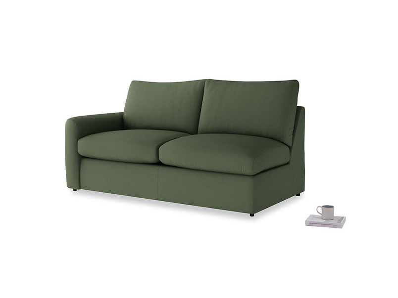 Chatnap Sofa Bed in Forest Green Clever Linen with a left arm